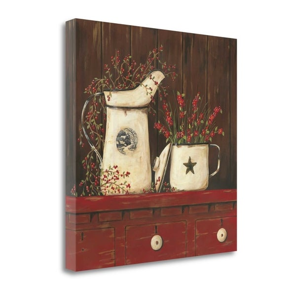 """""""Red Cupboard I"""" By Jo Moulton, Fine Art Giclee Print on Gallery Wrap Canvas, Ready to Hang"""