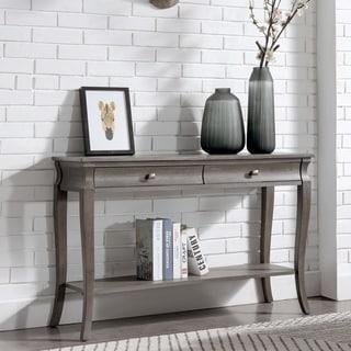Two Drawer Grey Wood Living Room Sofa table