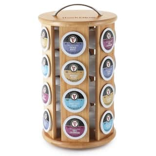 SleekDine Bamboo K-Cup Holder - Coffee Stand for Kitchen Counter