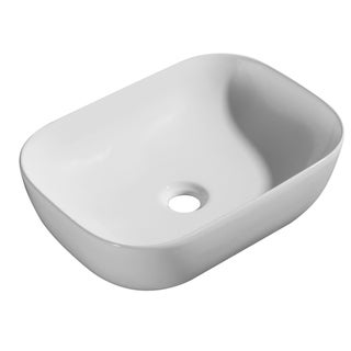 """Poppy """"Cotton White Collection"""" Vitreous China Vessel Sink"""