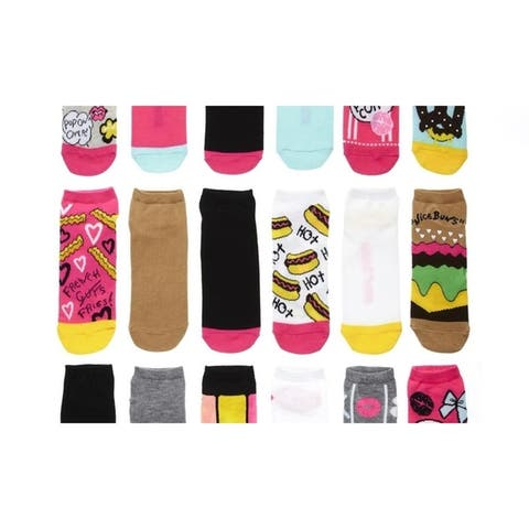 Betsey Johnson Womens No Show Low Cut Socks (6- or 12-Pairs)