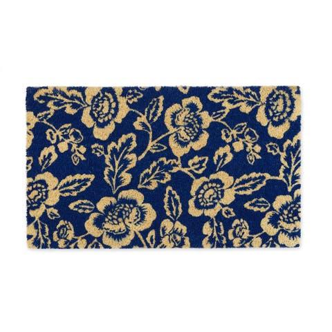 DII Blue Peonies Doormat