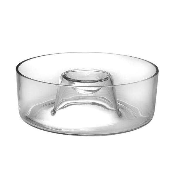 Majestic Gifts Inc European Glass Chip Dip Bowl 11 D Overstock 30268100