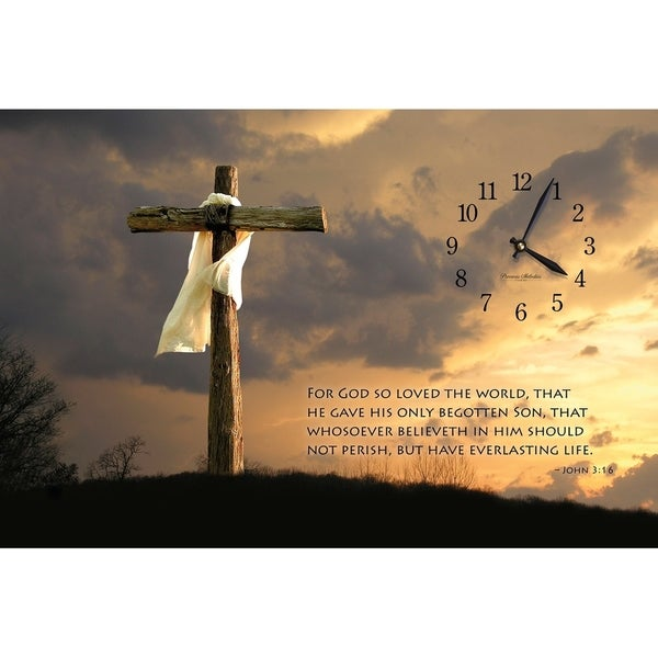 """Precious Melodies Clock - John 3:16 with """"It's a Beautiful Day"""" Chimes"""