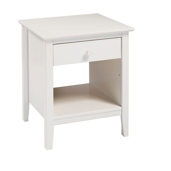 Taylor & Olive Snowberry 1-drawer Pine Wood Nightstand