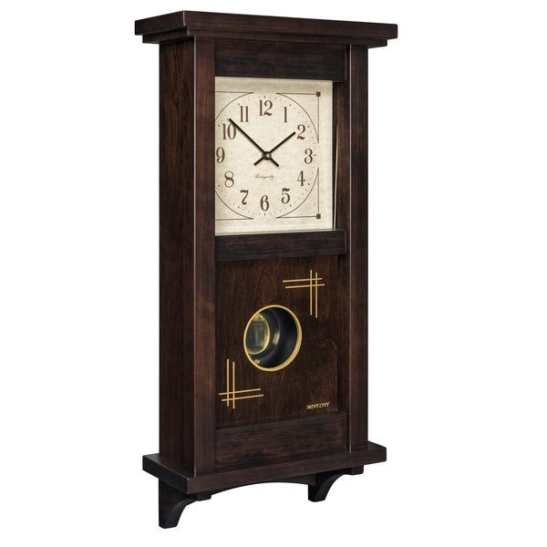 """Precious Melodies Clock - Mission Pendulum with """"Bless the Lord"""" Chimes"""