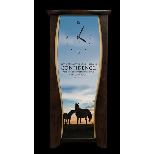 "Precious Melodies Clock - Confidence with ""At the Foot of the Cross"" Chimes"