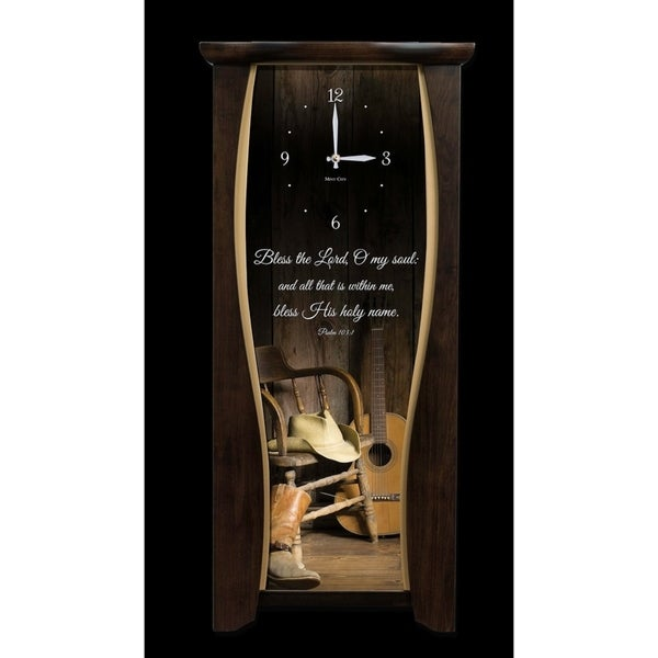 """Precious Melodies Clock - Western with """"At the Foot of the Cross"""" Chimes"""