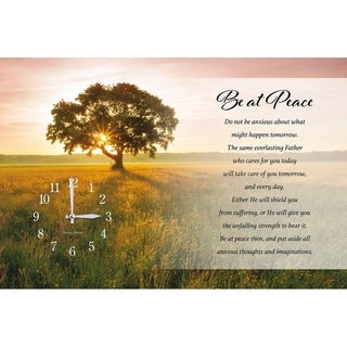 "Precious Melodies Clock - Be at Peace with ""It's a Beautiful Day"" Chimes"