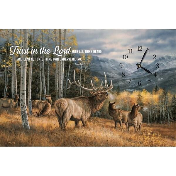 Precious Melodies Clock - Elk with Wildlife Chimes