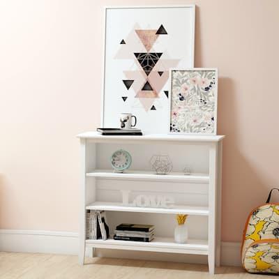 Taylor & Olive Snowberry 3-shelf Pine Wood Bookcase