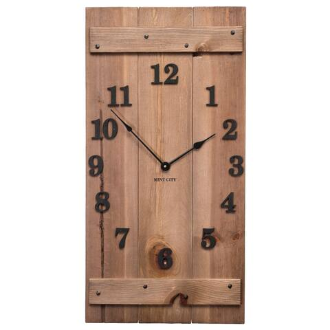 """Precious Melodies Clock - Rustic Wood Clock with """"At the Foot of the Cross"""" Chimes"""