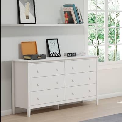 Taylor & Olive Snowberry 6-drawer Pine Wood Tall Storage Dresser