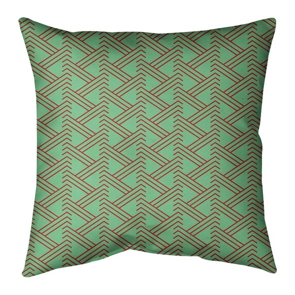 Festive Festive Zig Zag Pattern Floor Pillow - Standard