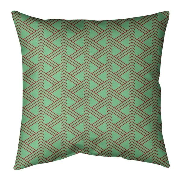 Festive Festive Zig Zag Pattern Pillow-Cotton Twill