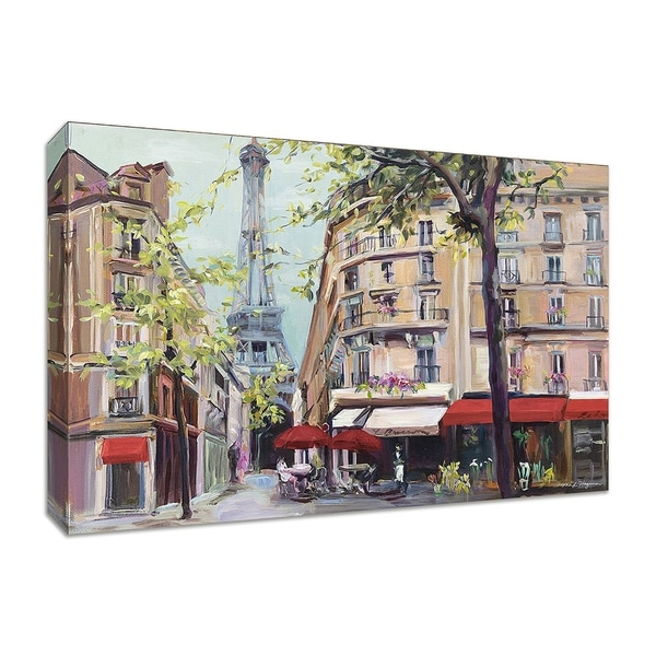 """Springtime in Paris"" by Marilyn Hageman, Fine Art Giclee Print on Gallery Wrap Canvas"