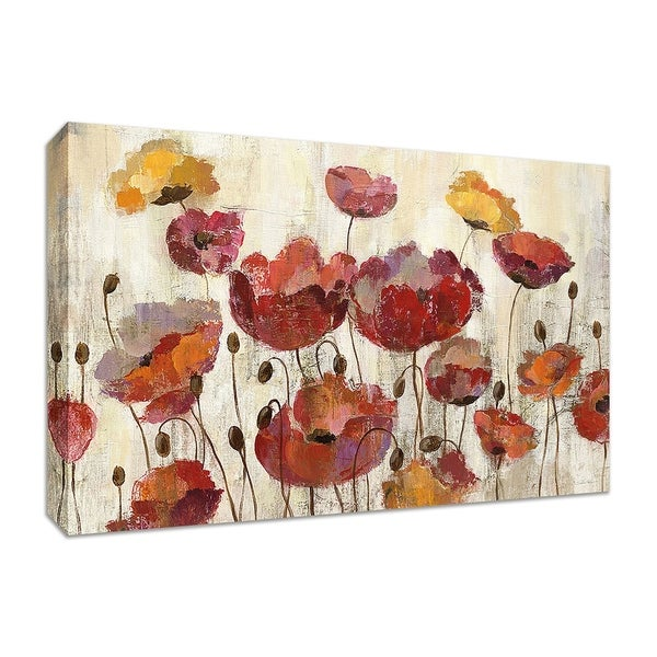 """Poppies in the Rain"" by Silvia Vassileva, Fine Art Giclee Print on Gallery Wrap Canvas"
