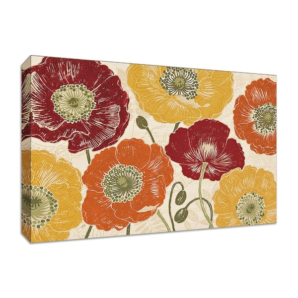 """""""A Poppy's Touch I Spice"""" by Daphne Brissonnet, Fine Art Giclee Print on Gallery Wrap Canvas"""