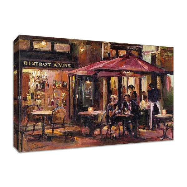 """Bistro A Vins"" by Marilyn Hageman, Fine Art Giclee Print on Gallery Wrap Canvas"