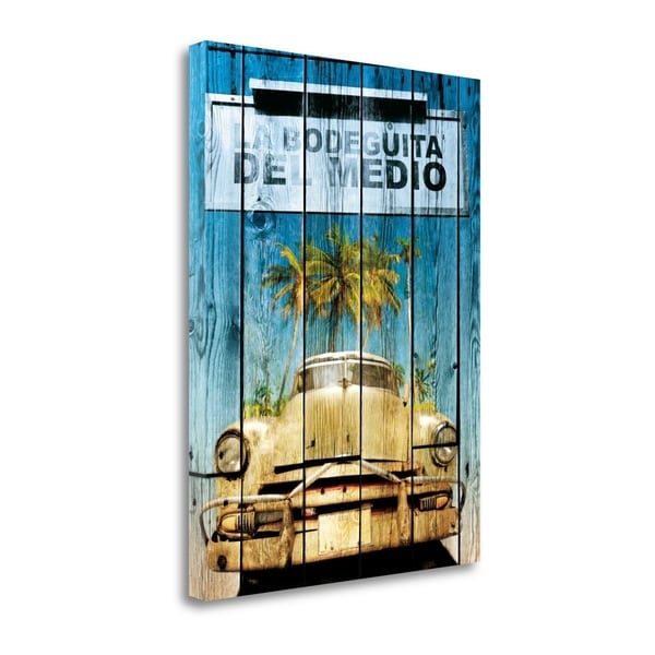 """""""La Bodeguita"""" By Bresso Sola, Fine Art Giclee Print on Gallery Wrap Canvas, Ready to Hang"""