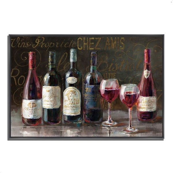 """""""Bistro Reds V2"""" by Danhui Nai, Fine Art Giclee Print on Gallery Wrap Canvas"""