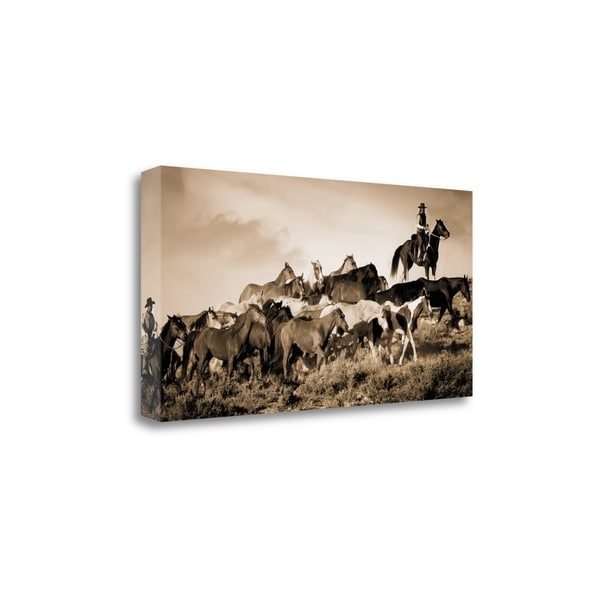 """""""Gathering The Herd"""" By Wendy Caro, Fine Art Giclee Print on Gallery Wrap Canvas, Ready to Hang"""