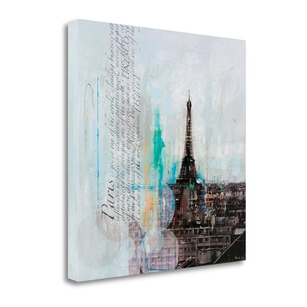 """The City Of Light I"" By Markus Haub, Fine Art Giclee Print on Gallery Wrap Canvas, Ready to Hang"