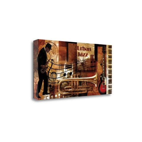 """""""Urban Jazz"""" by Paul Robert , Fine Art Giclee Print on Gallery Wrap Canvas, Ready to Hang"""
