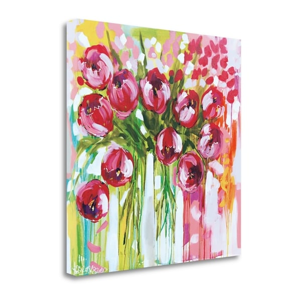 """Razzle Dazzle Tulips"" By Amanda J. Brooks, Giclee Print on Gallery Wrap Canvas"