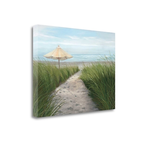 """""""Umbrella On The Beach"""" By Julie Peterson, Giclee Print on Gallery Wrap Canvas"""