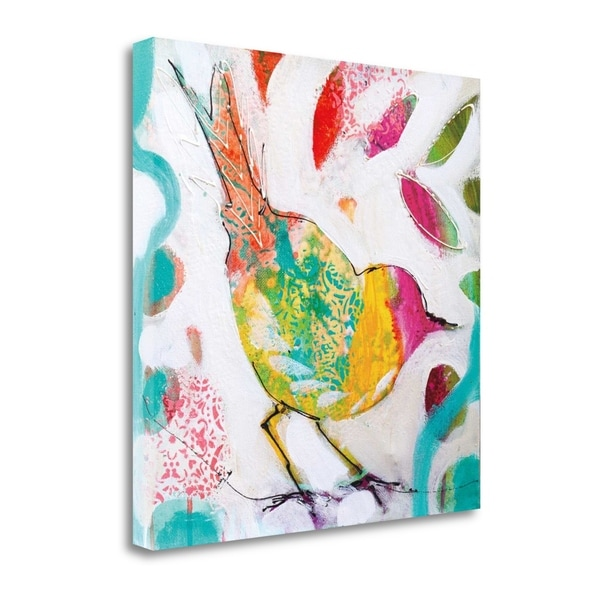 """Petite Bird IV"" By Amanda J. Brooks, Fine Art Giclee Print on Gallery Wrap Canvas, Ready to Hang"