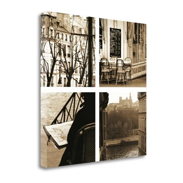 """Paris A La Seine"" By Marina Drasnin Gilboa, Giclee Print on Gallery Wrap Canvas"