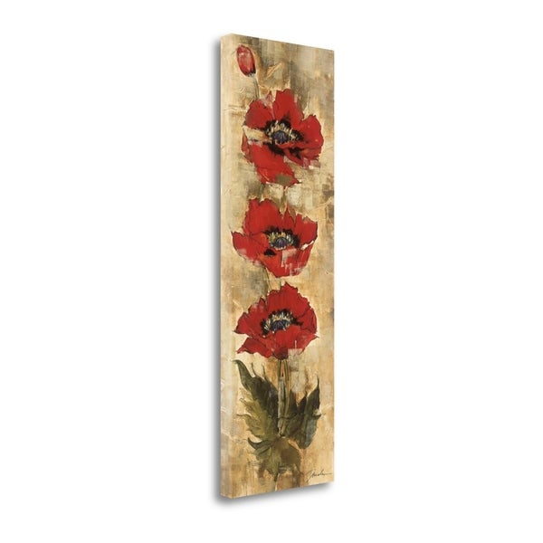 """""""Strand Of Poppies I"""" By Liz Jardine, Fine Art Giclee Print on Gallery Wrap Canvas, Ready to Hang"""