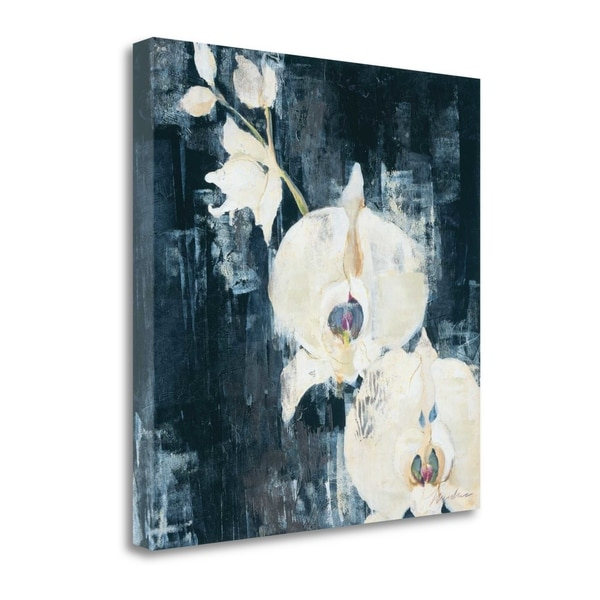 """""""Shadow Orchids I"""" By Liz Jardine, Fine Art Giclee Print on Gallery Wrap Canvas, Ready to Hang"""