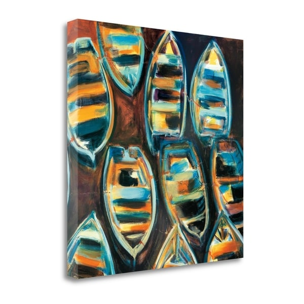 """Boat Pods"" By G.A. Hickman, Fine Art Giclee Print on Gallery Wrap Canvas, Ready to Hang"