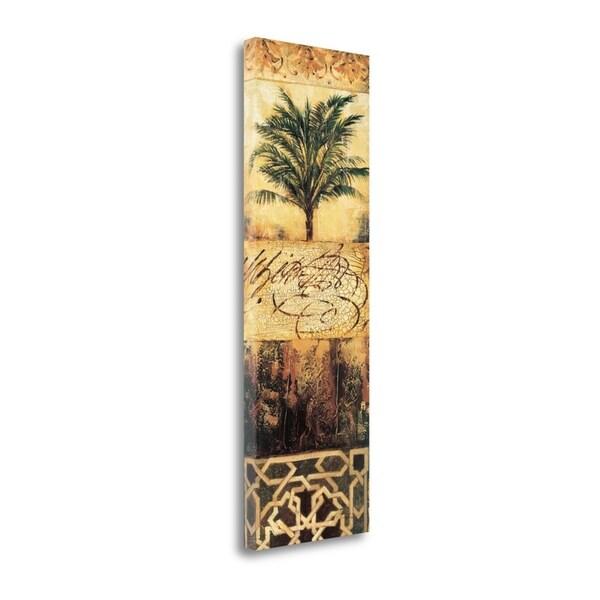 """Palm Manuscripts II"" By Liz Jardine, Fine Art Giclee Print on Gallery Wrap Canvas, Ready to Hang"