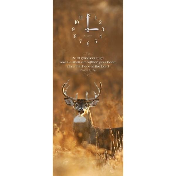 "Precious Melodies Clock - Deer with ""Sweet Memories"" Chimes"