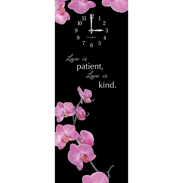 """Precious Melodies Clock - Orchid with """"Sweet Memories"""" Chimes"""