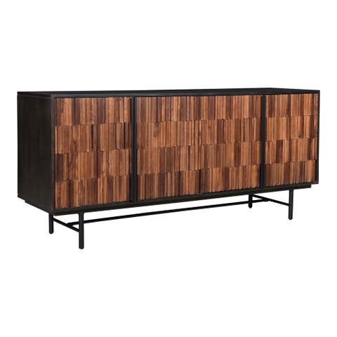 "Aurelle Home Janelle Modern Mango and Sheesham Wood Sideboard - 68"" x 18"""