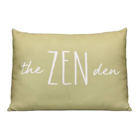 Stratton Home Decor The Zen Den Lumbar Pillow