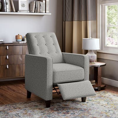 Copper Grove Button Tufted Pushback Recliner Chair