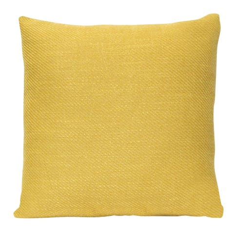 The Curated Nomad Mustard Tweed 18-inch Square Pillow
