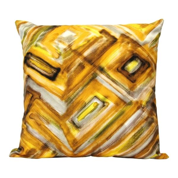 """Stratton Home Decor Safari Abstract 18"""" Square Pillow"""