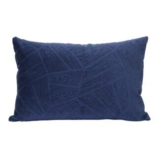 Stratton Home Decor Regal Blue Velvet Lumbar Pillow