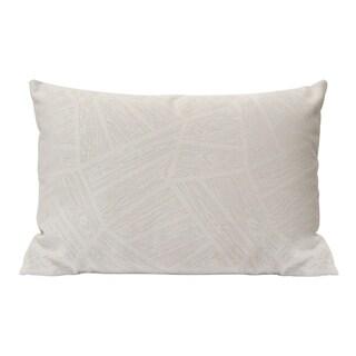 Stratton Home Decor Frost Grey Velvet Lumbar Pillow
