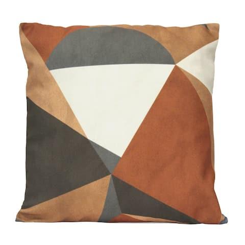 """Stratton Home Decor Desert Sand Abstract 18"""" Square Pillow"""