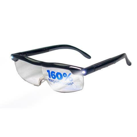 LED Magnifying Eyewear Sight Enhancing Bright Glasses - 160% Magnification - UPGRADED USB Rechargeable