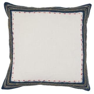 Kosas Home Barlow Embroidered 100% Linen 22-inch Throw Pillow