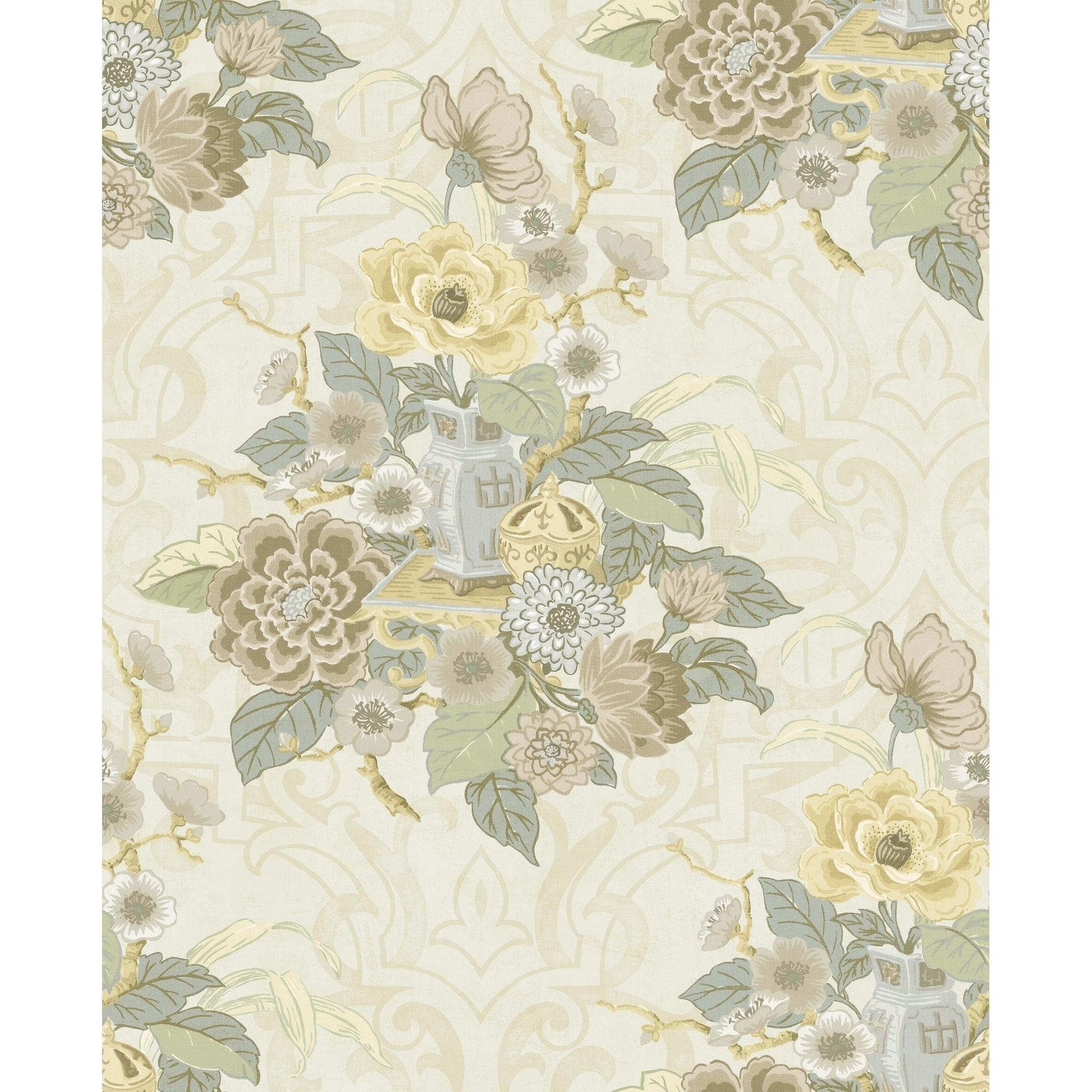 Shop Metallic Dynasty Floral Wallpaper 32 81 Feet Long X 20 5