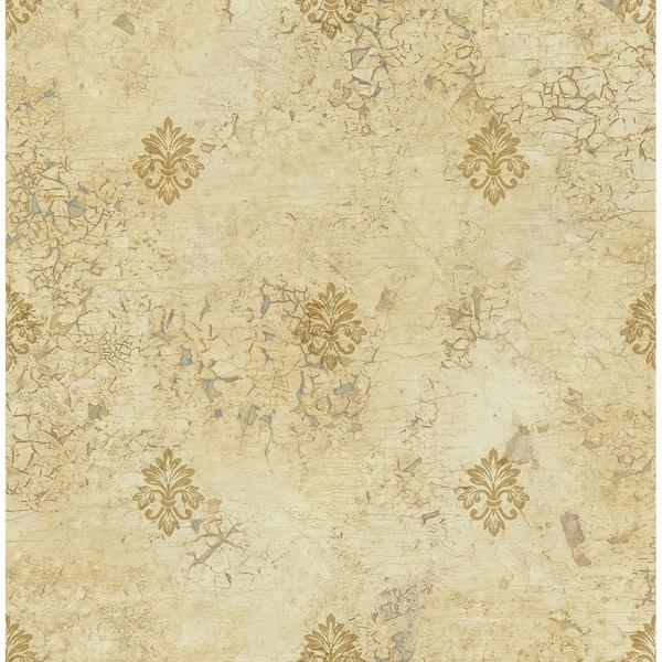 Matte Fleur De Lis Wallpaper 3281 Feet Long X 205 Inchs Wide Caramel And Sand